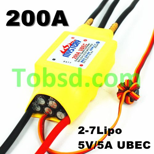 Mystery RC 200A 2-6s Brushless ESC W/ Water Cooling for boat Free Ship