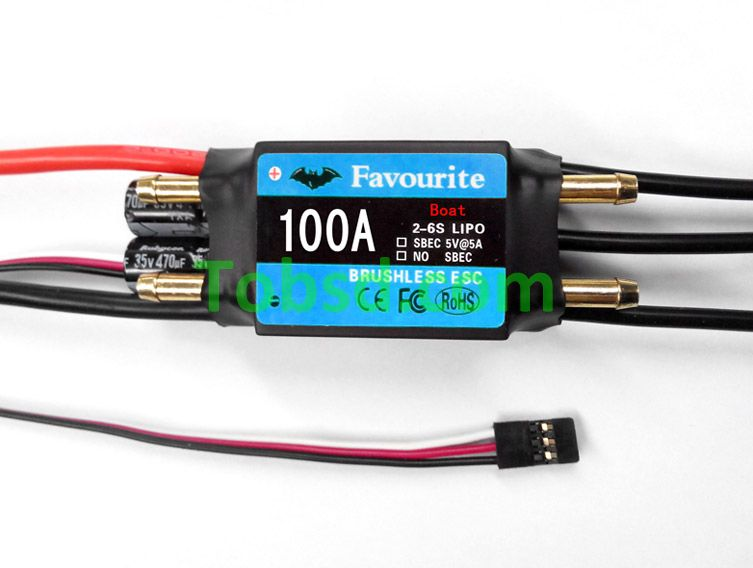 100A Brushless ESC FVT Shark Series 100A ESC Rc boat boats dedicated ESC