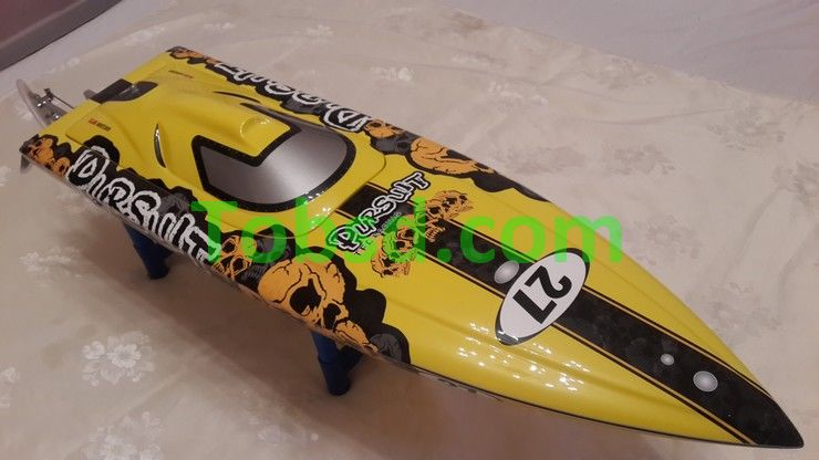 34 inches CrossBones ARTR EP Fibreglass Mono 2 Deep-vee Racing Rc Boat