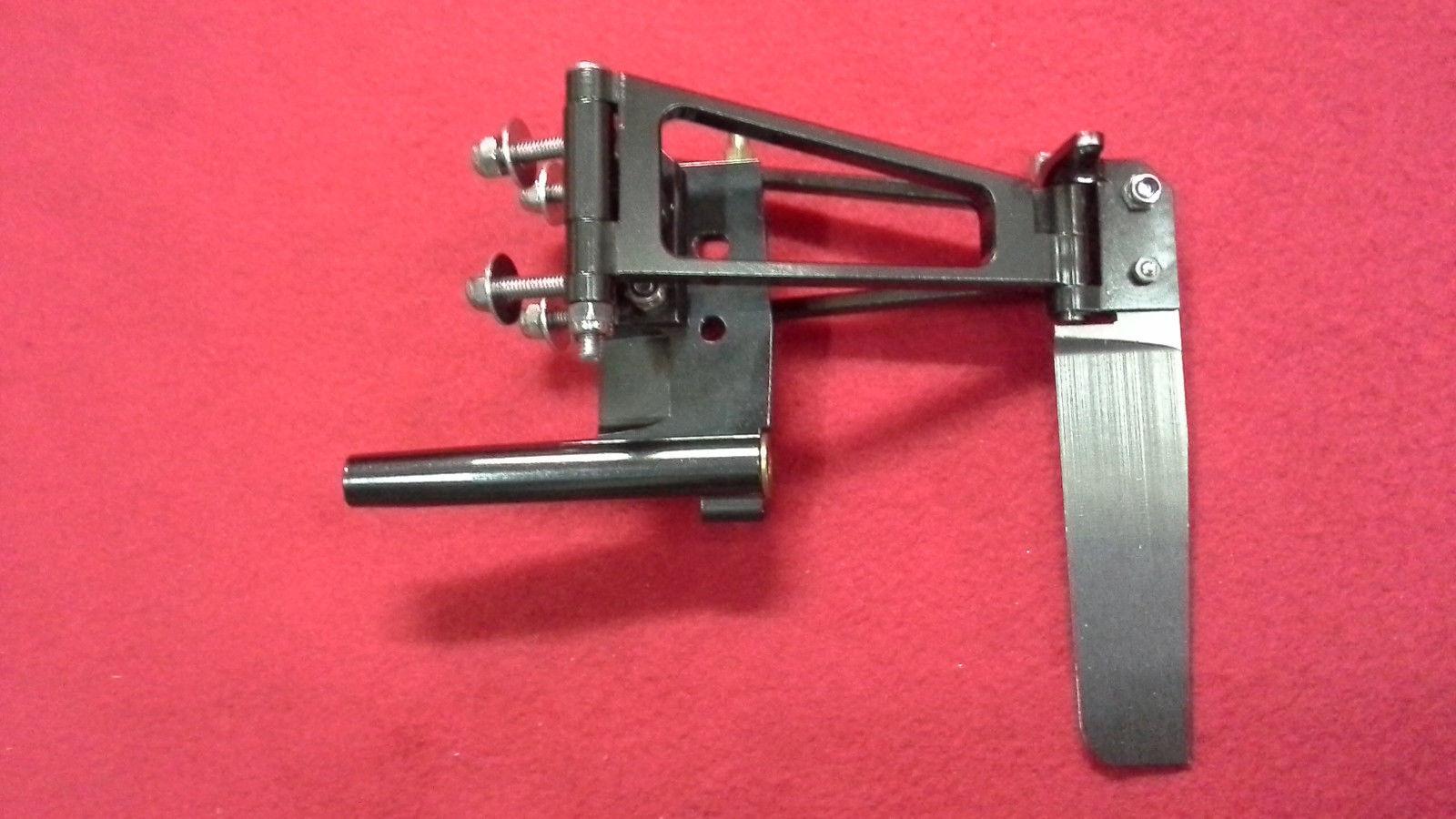 CNC Aluminum  Inline Rudder with adjustable strut for 3/16
