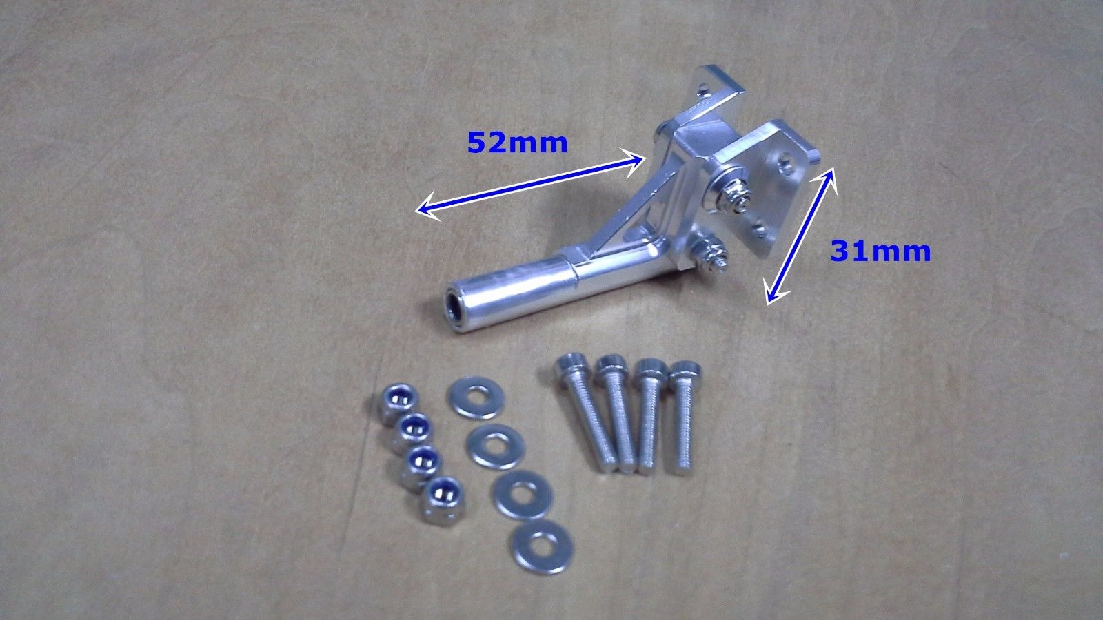4mm aluminum 52mm Length stinger drive RC Boat