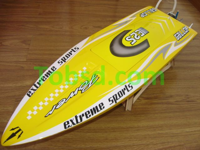 26 inch Yellow Monsoon EP Fibreglass Mono1 ARTR Racing Boat