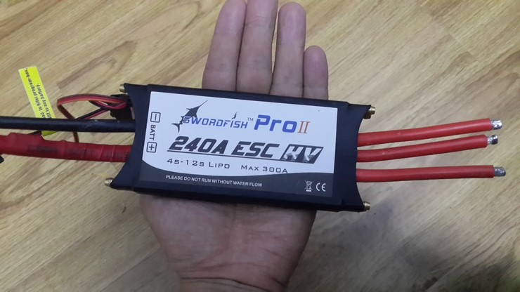 Swordfish 240A 12S Water Cool Brushless Motor ESC for Boat