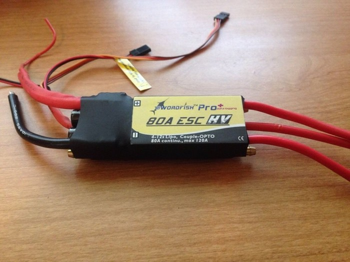 Hifei Swordfish Pro+ 80 amp HIGH Voltage 4-12s Boat Esc with Data Logging