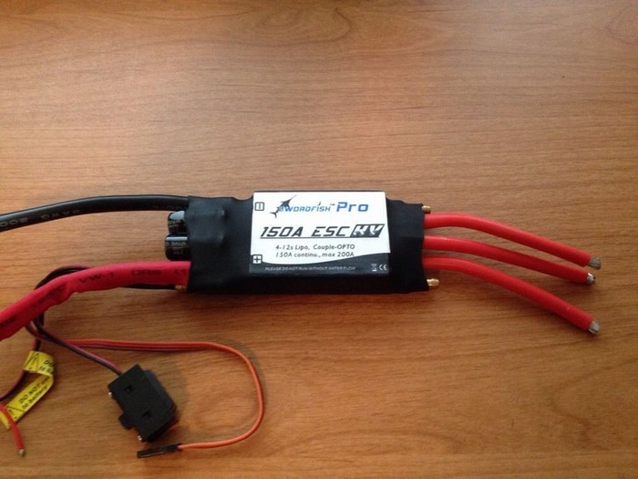 Swordfish 150A 12S Water Cool Brushless Motor ESC for Boat