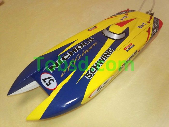 Number 57  High Speed Racing Cat Boat ARTR (600mm)