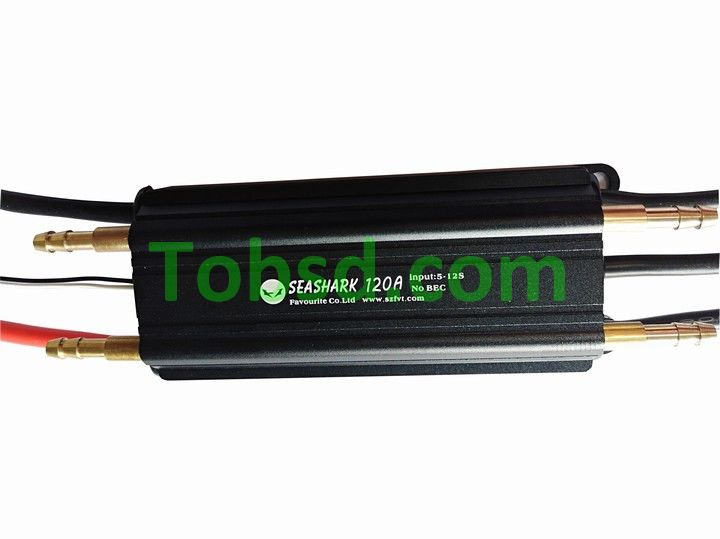 WaterProof Fvt Shark 120A (lite) 5-12s High Voltage Brushless Boat Esc