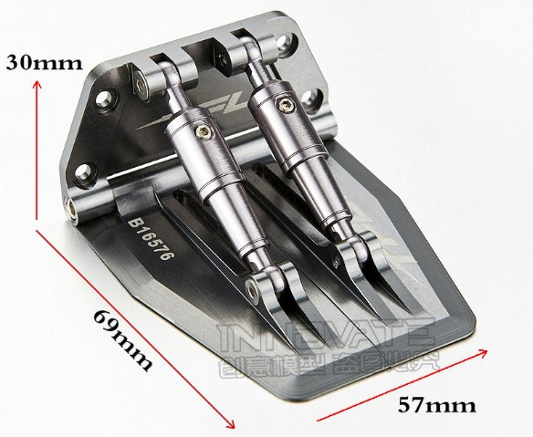 Scale Trim Tabs 69mm X 57mm set for rc boat