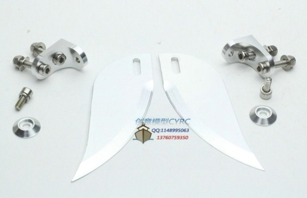 Turn fins 92mm x 30mm for Engine rc boat